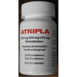 Изображение товара: Атрипла Atripla 600 mg/200 mg/245 mg 30 таблеток