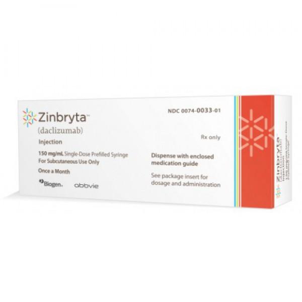 Зинбрита Zinbryta (Даклизумаб) 150 мг/1 шт