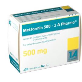 Изображение товара: Метформин METFORMIN 500MG - 180 Шт