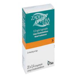 Изображение товара: Задитен ZADITEN Ophtha 0,25 mg/ml - 50 Шт