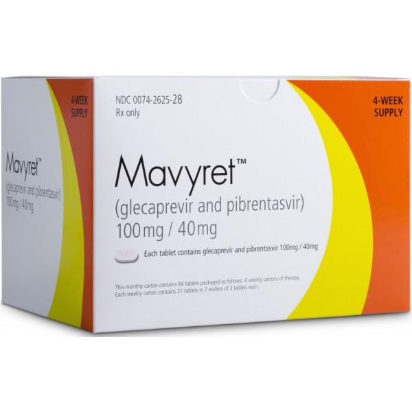 Мавирет MAVIRET 100MG/40MG - 4*21 Шт