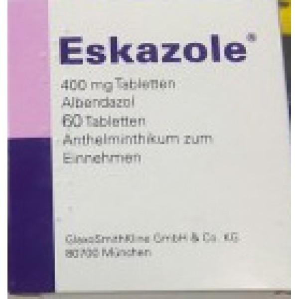 Эсказол (Альбендазол) Eskazole 400 мг/60 таблеток