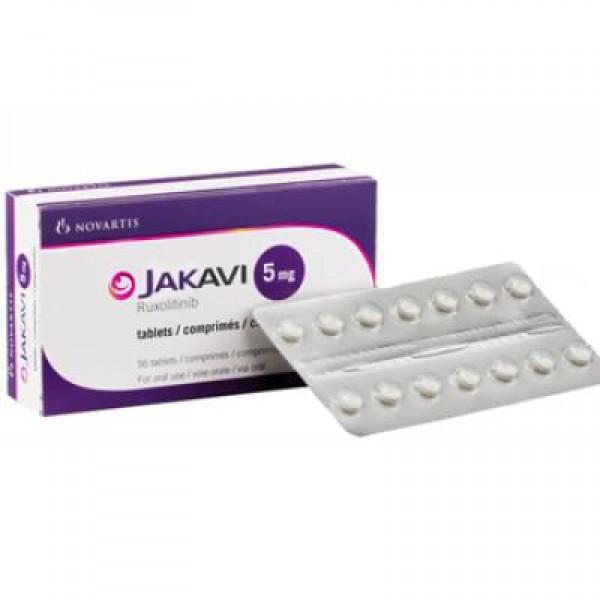 Джакави Jakavi (Руксолитиниб Ruxolitinib) 5 мг/56 таблеток
