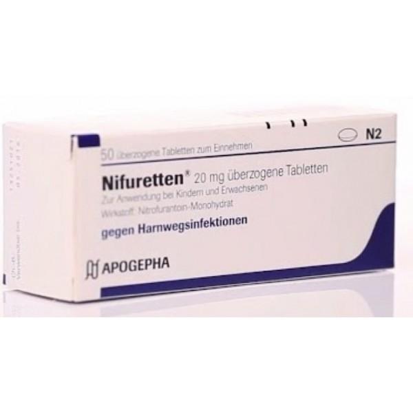 Нифуреттен Nifuretten 20MG/50 Шт