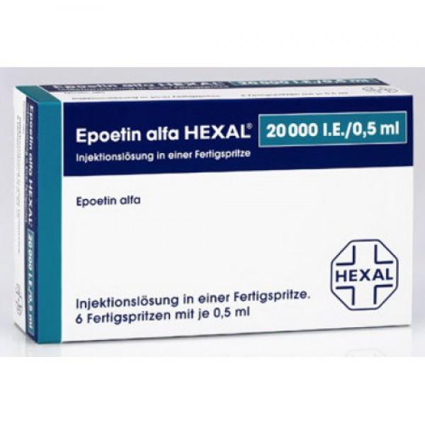 Эпоэтин Альфа 20000 (Epoetin Alfa 20000) 6X20.000 I.E./0,5ml